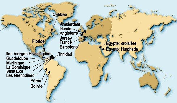 guadeloupe carte du monde - Photo